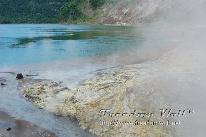 taal crater heat