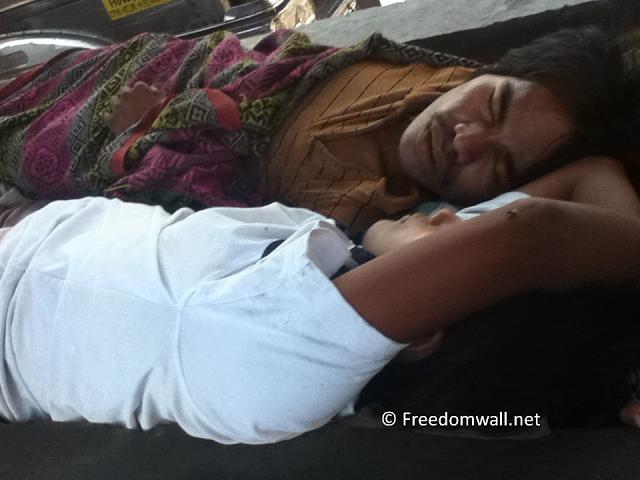 Sleeping Couple along Taft Avenue