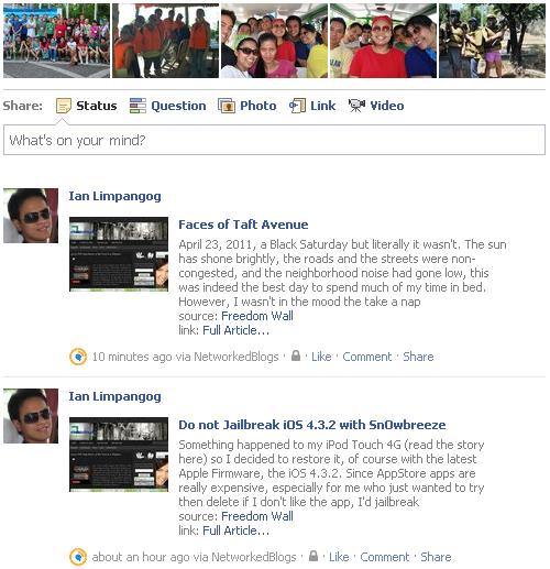 networkedblogs facebook status