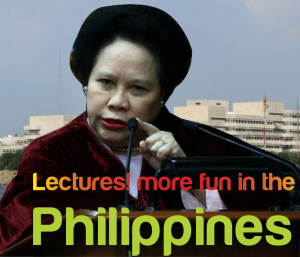 Lectures are more fun in the Philippines