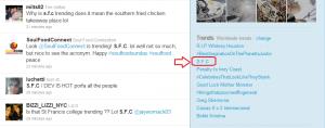 S.F.C trending twitter