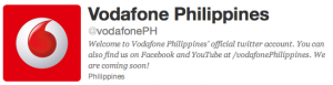 Vodaphone Philippines twitter