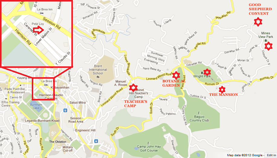 How To Commute In Baguio Freedom Wall - Baguio map
