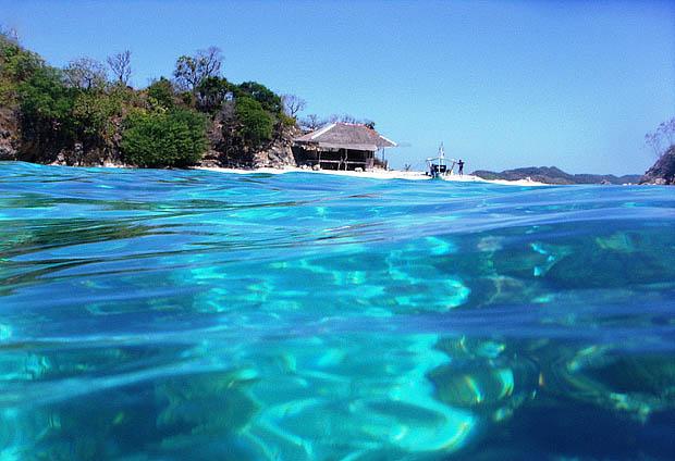 A clear water of Bulog island