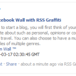 Feed Your Facebook Wall with RSS Graffiti