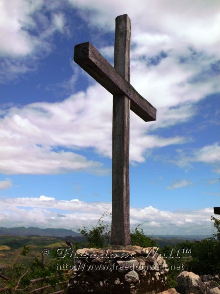 "A cross on top of ""Mount Calvary"" in Antipolo"