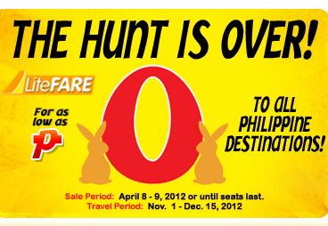 zero fare seat sale cebu pacific