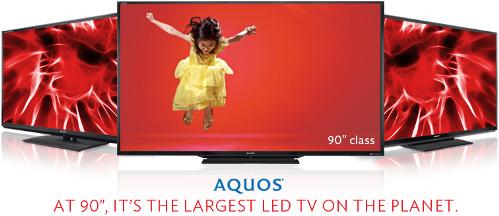 "Sharp's 90"" LED TV"