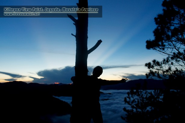 My Silhouette at Kiltepan Viewpoint, Sagada