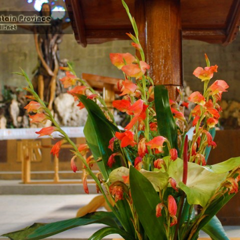 sagada church flowers