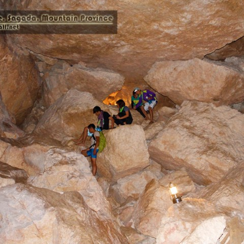 Arnel, Maan, Matt, and Lovely taking their Grand Entrance at Lumiang Cave