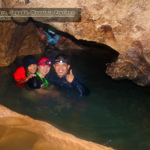Aimz, Ronee, and Christian at Sumaguing Cave