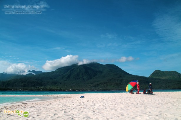 White Island Camiguin with Mount Mambajao and the Old Volcano in the background