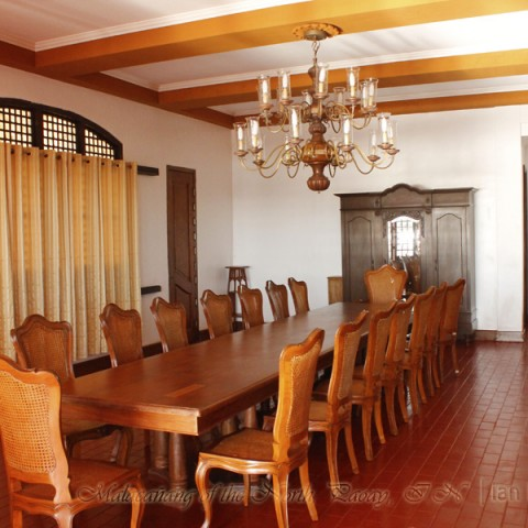 Malacanang of the North dining area