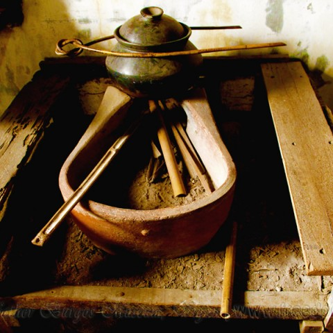 inside father burgos museum dirty kitchen