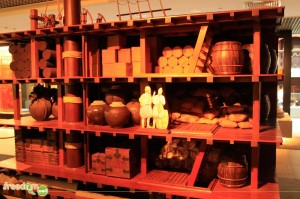 Mini wine processing at Macau Museum