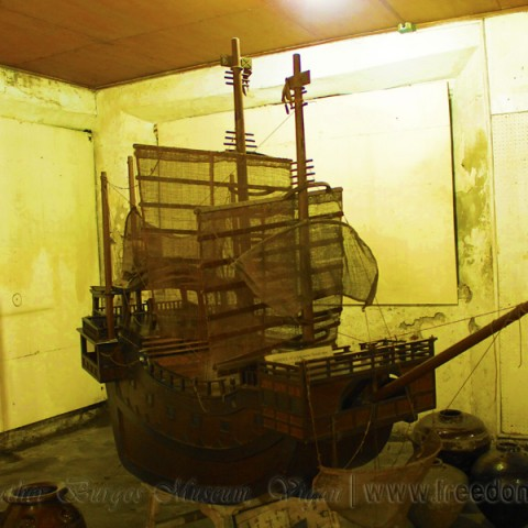 model of japanese vessel that liberates the philippines