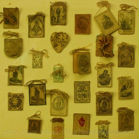 Fr. Burgos museum scapulars