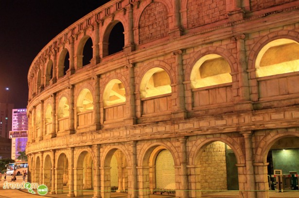 The replica of the Roman Amphitheater/Colosseum