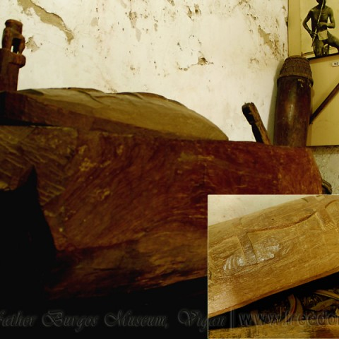 hollow wood coffin