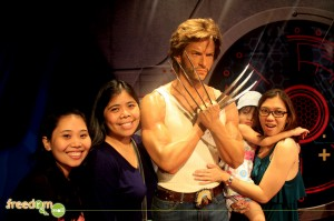 Patti, Jow, Yna, and Chette posing with the Wolverine