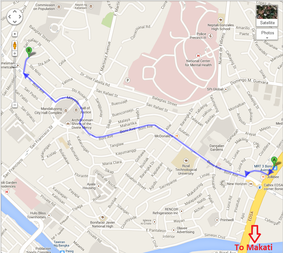 directions to kanto freestyle breakfast boni mandaluyong