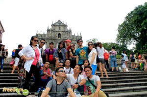 The Group at the Ruins of Saint Paul