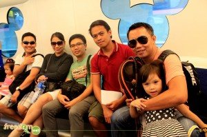 Collins, Neng, Lex, Me, Byron, and Yna (again) inside the disneyland express