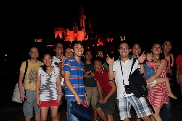 Group Photo at DisneyLand