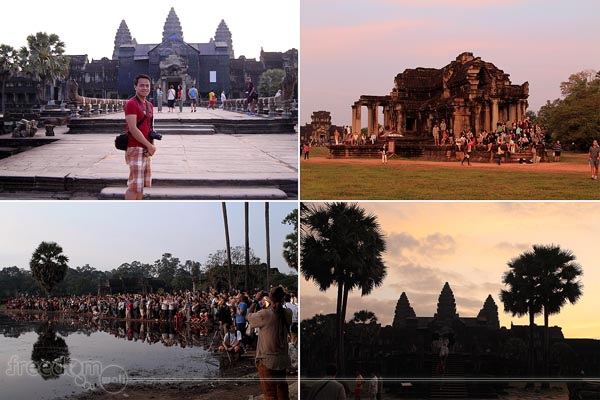 While waiting for the sunrise in Angkor Wat