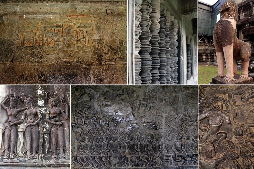 The angkor wat bow freedom wall