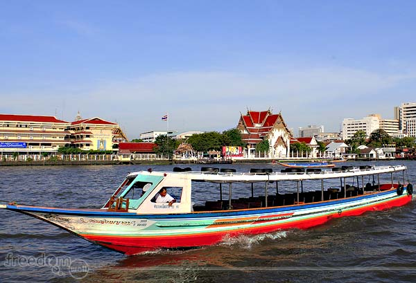 Sightseeing While Cruising Chao Phraya River Freedom Wall