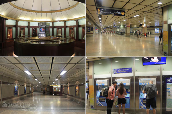 Inside MRT Hua Lamphong Station