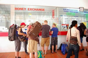 Tourist info counter and money changer