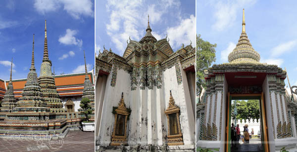 Wat Pho Chedis and Architecture