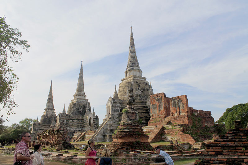 The three main chedis of Wat Phra Si Sanphet