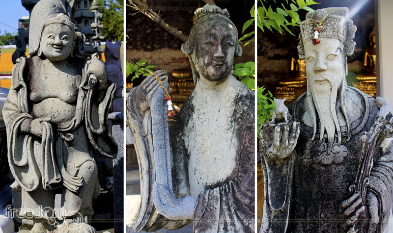 Chinese-influenced figures in Wat Suthat