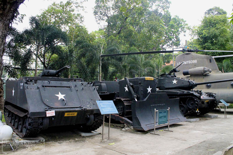 Commissioned war machines at War Remnants Museum