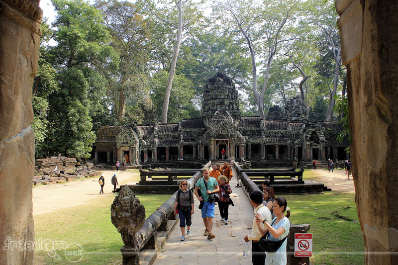The facade of Ta Prohm