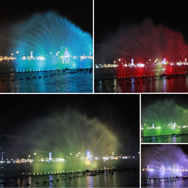 The peacock fountain of Luneta in colors