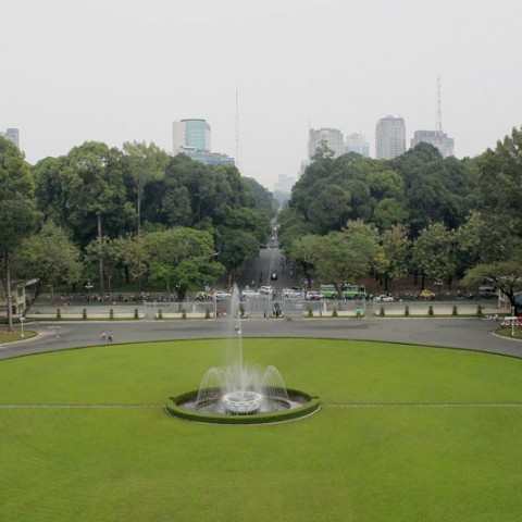 reunification palace lawn