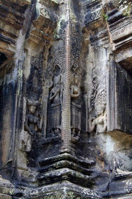 thommanon female devata carvings
