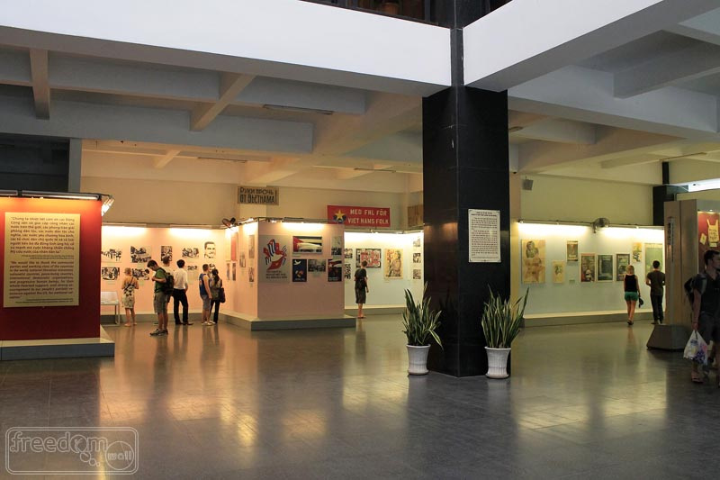 War Remnants Museum gallery at the ground floor