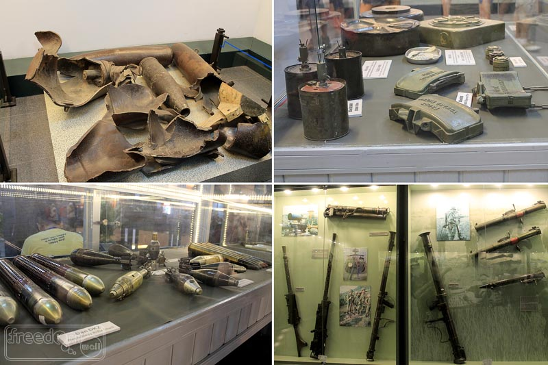 Few of the weapons used during the war