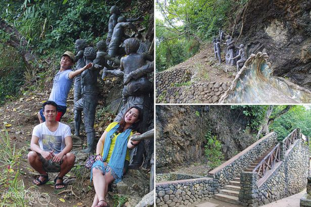 """Just below the Ermita Hill with Corinne Grace """"Cookie"""" Santelices, Teddy Buagas, and Ian Limpangog"""