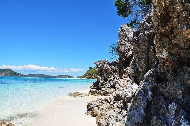 Rocky and sandy terrain of Bulog Island