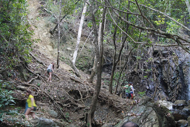 A trek to access the higher portion of Diguisit falls