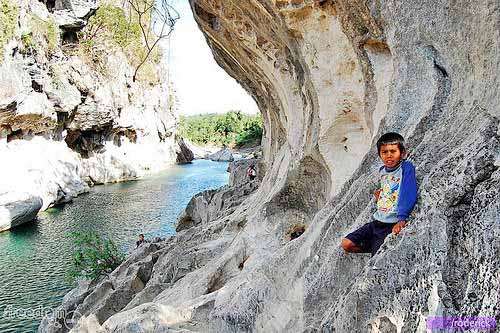 Limestone rock walls up for tricky climb