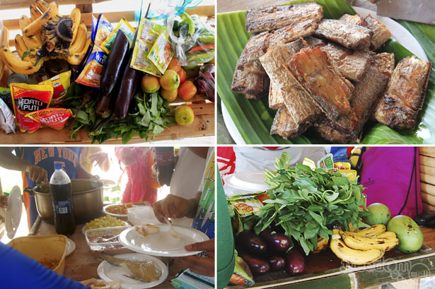 Goods for the 2-day Calaguas feast