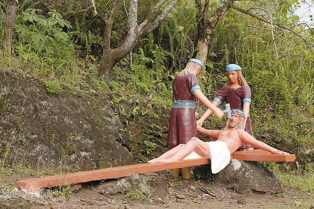 Camiguin's stations of the cross: Crucifixion